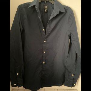 H&M Tops - Blue dress shirt